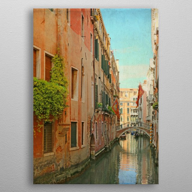High-quality metal print from amazing Italy Italia Venice Venezia collection will bring unique style to your space and will show off your personality. metal poster