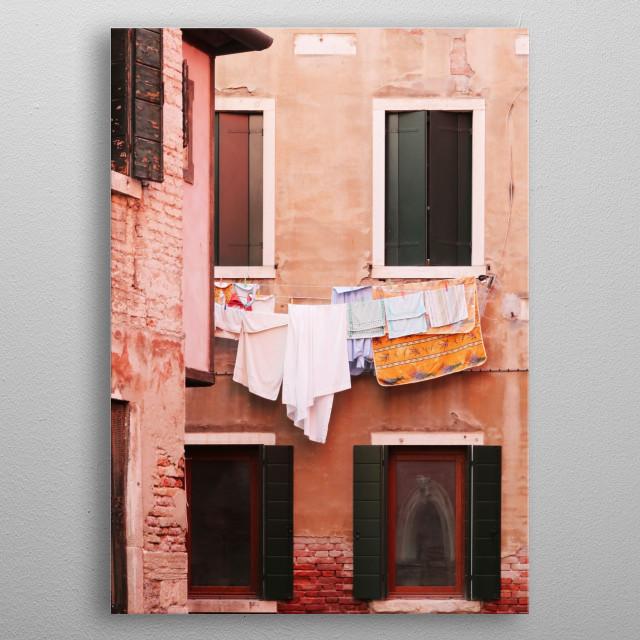 Venetian Laundry metal poster