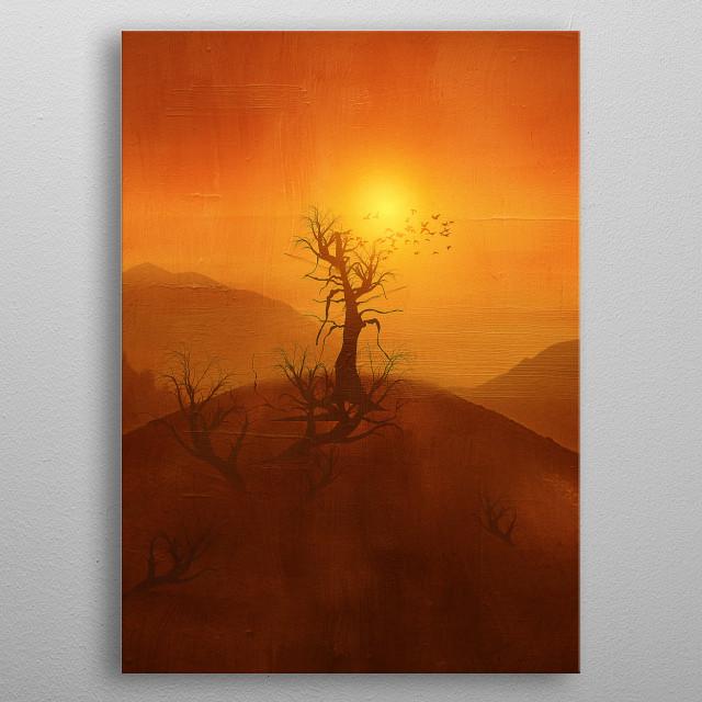 Orange sunset for you. metal poster