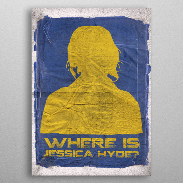 Where is Jessica Hyde? - Arby from Utopia metal poster