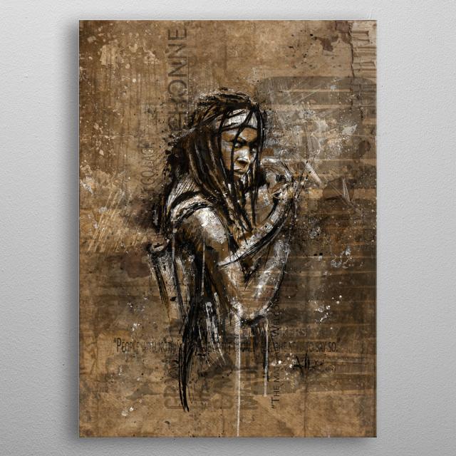Michonne metal poster