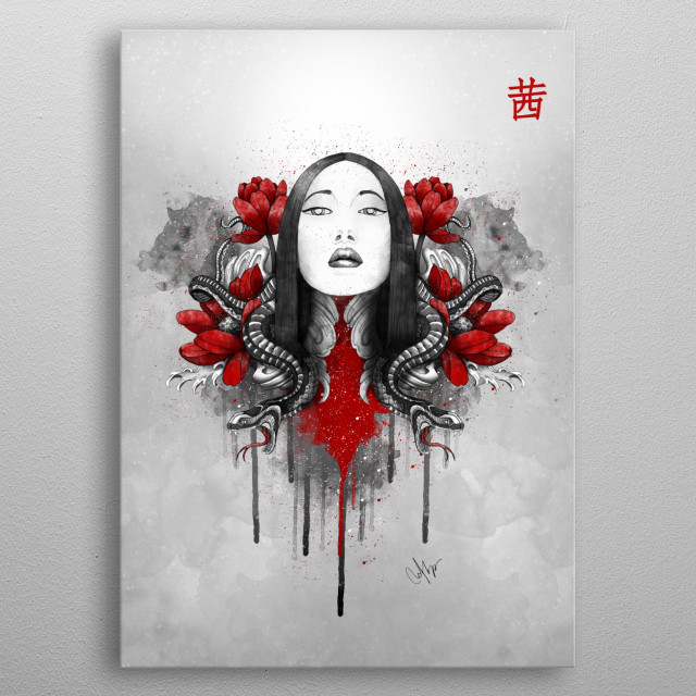 Fascinating metal poster designed by Marine Loup. Displate has a unique signature and hologram on the back to add authenticity to each design. metal poster