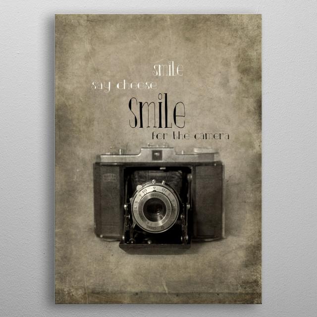 Smile metal poster