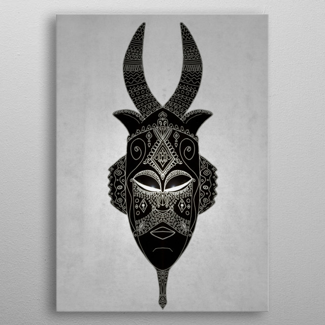 Fascinating metal poster designed by Barruf .... Displate has a unique signature and hologram on the back to add authenticity to each design. metal poster