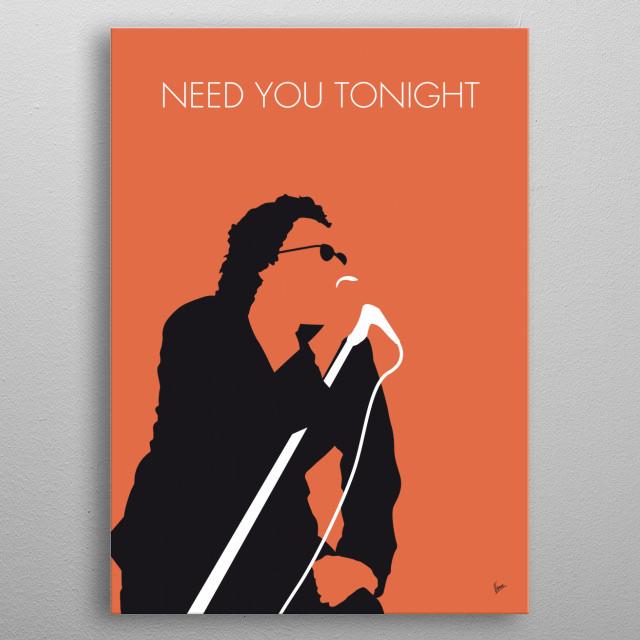 No033 MY INXS Minimal Music poster INXS, Need, You, Tonight, New wave, funk,rock, Never, Tear, Us, Apart, Australia, metal poster