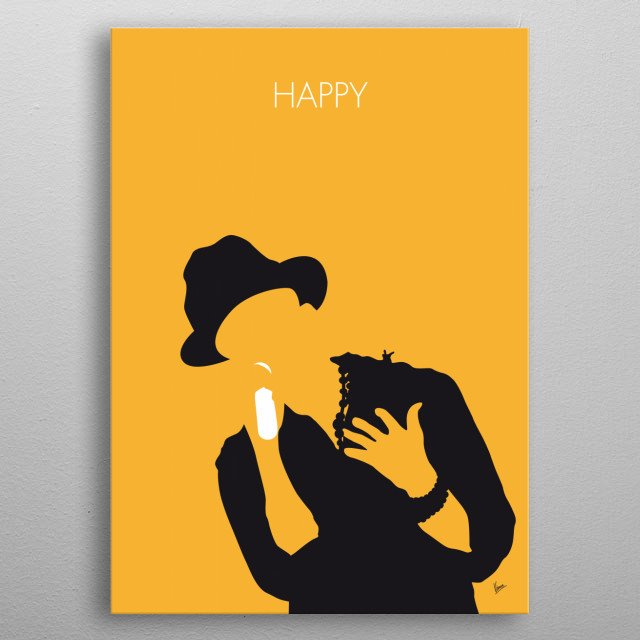 No034 MY Pharrell Williams Minimal Music poster Pharrell, Williams, Happy, Despicable, soundtrack, metal poster