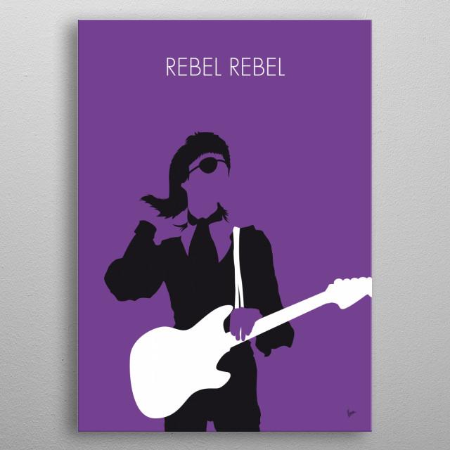 No031 MY BOWIE Minimal Music poster Ziggy, Stardust, Rebel, BOWIE, david, Diamond, Dogs, metal poster