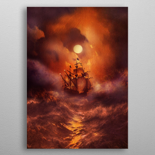 Fascinating metal poster designed by Viviana Gonzalez. Displate has a unique signature and hologram on the back to add authenticity to each design. metal poster