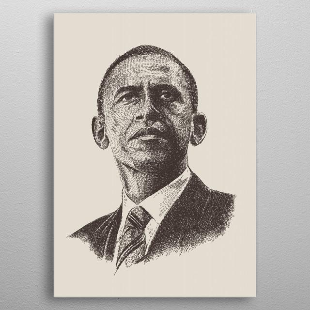 Barack Obama metal poster
