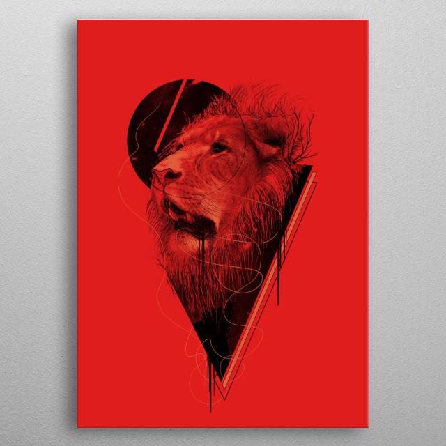 Hunger Strike metal poster