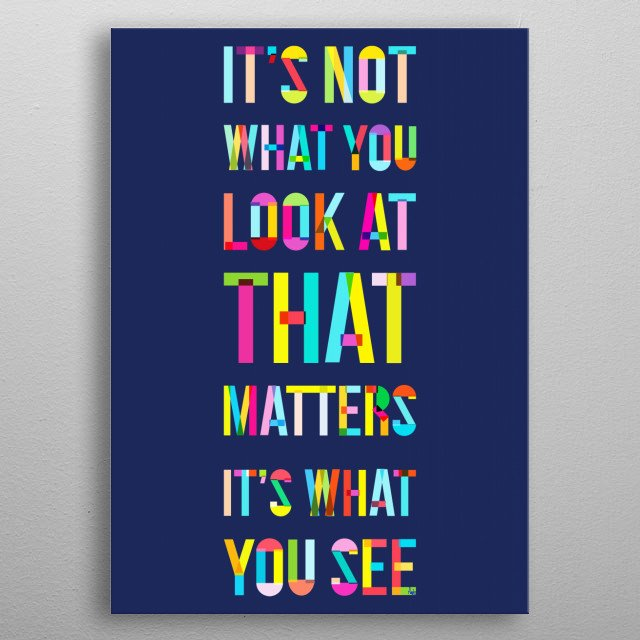 Look and See metal poster