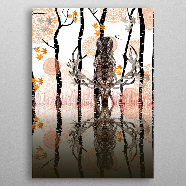 AUTUMN FOREST metal poster