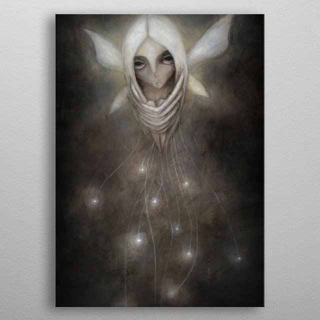 the fairy of light metal poster