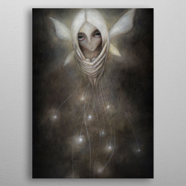 High-quality metal print from amazing Witches And Fairies collection will bring unique style to your space and will show off your personality. metal poster