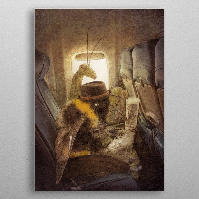 High-quality metal print from amazing Whimsical Flights collection will bring unique style to your space and will show off your personality. metal poster