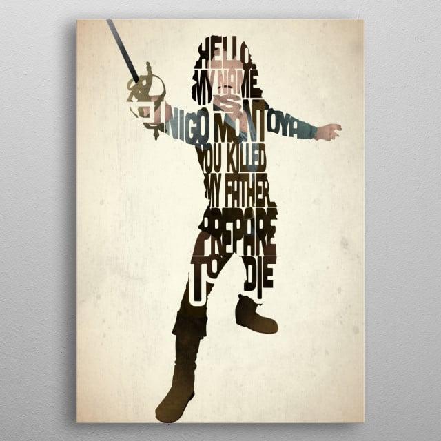 Inigo Montoya - The Princess Bride. metal poster
