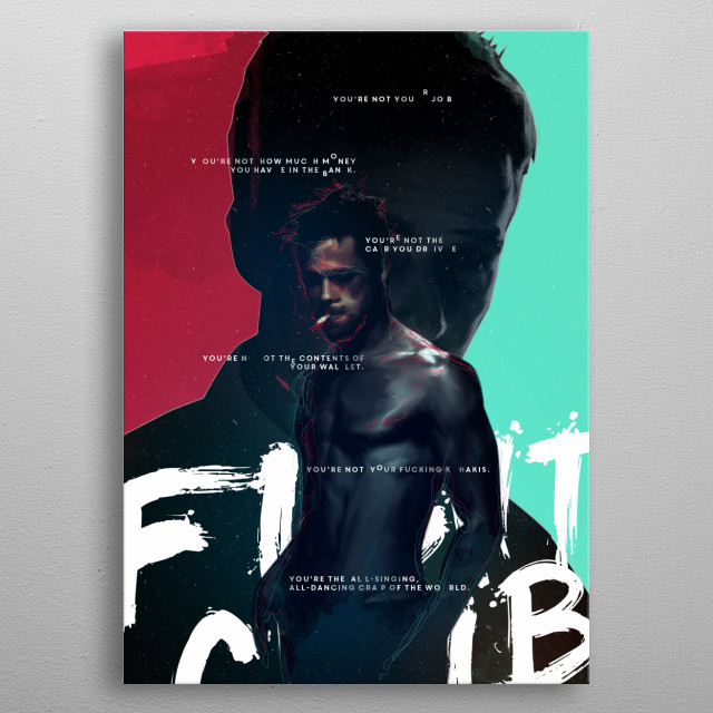 Fight Club - 2. poster - David Fincher movie collection metal poster