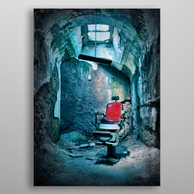 The Barber Chair metal poster