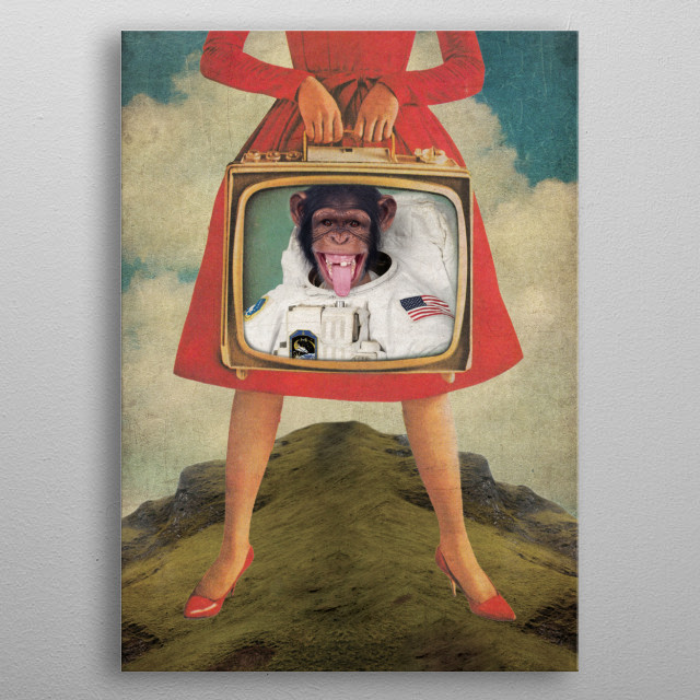 Monkey See Monkey Do metal poster