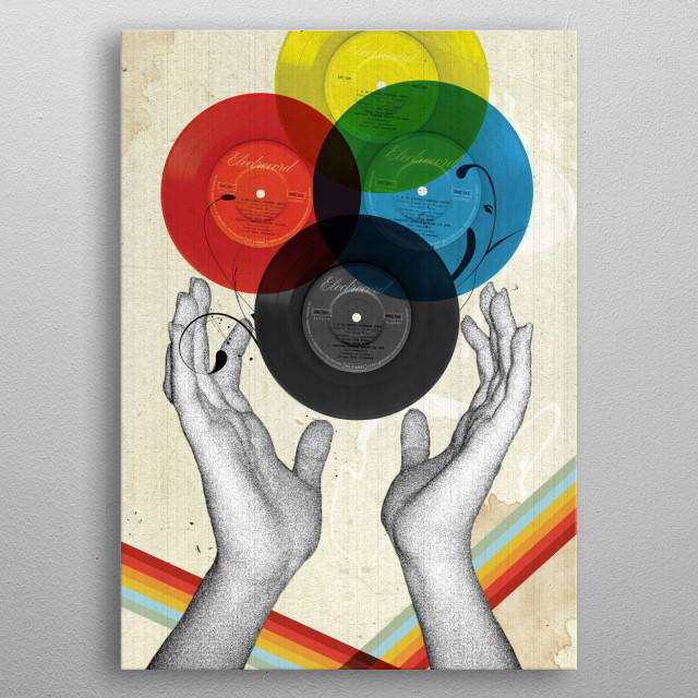 CMYK -- The Creation Of Retro metal poster