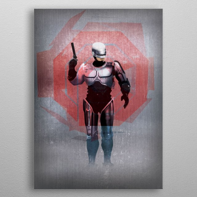 Fascinating metal poster designed by Robert  Granger. Displate has a unique signature and hologram on the back to add authenticity to each design. metal poster