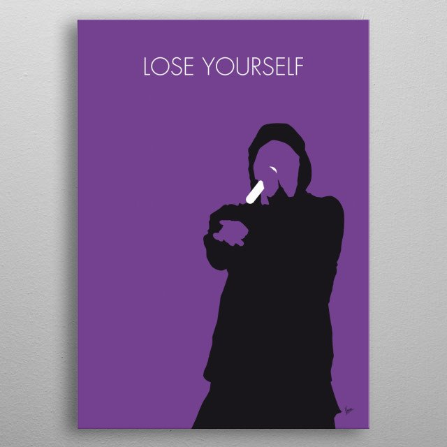 No041 MY EMINEM Minimal Music poster, Lose Yourself, B-Rabbit, American, rap, artist, 8 Mile, metal poster