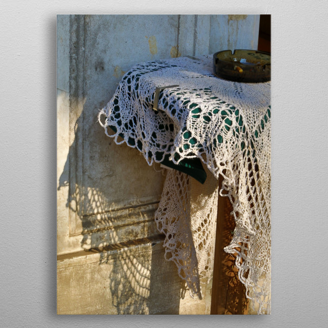 Shadows and Lace in Venice metal poster