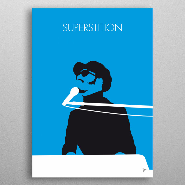No039 MY STEVIE WONDER Minimal Music poster, Superstition 70s, Talking, Book, 500, Greatest Songs, All Time, metal poster