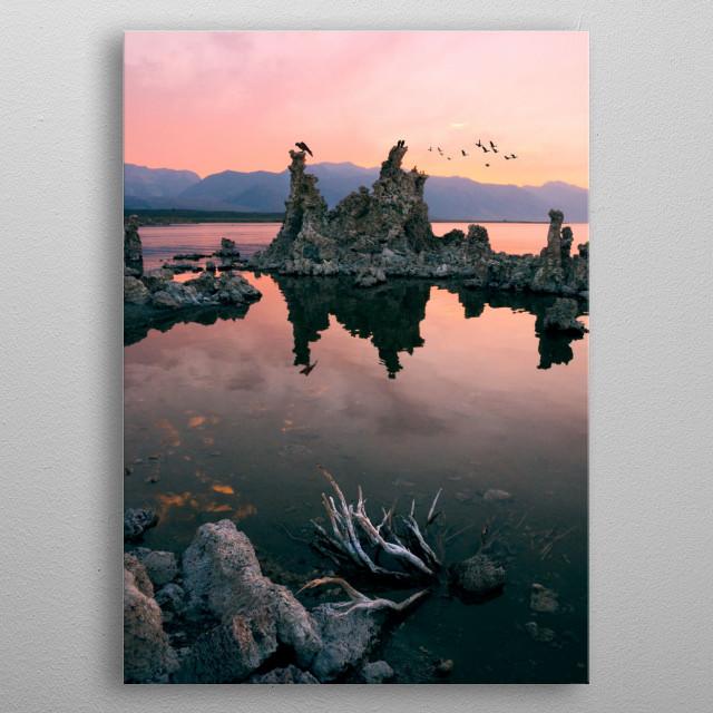 Mono Lake Sunset metal poster