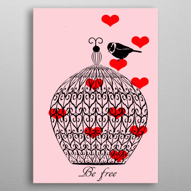 Love cage metal poster