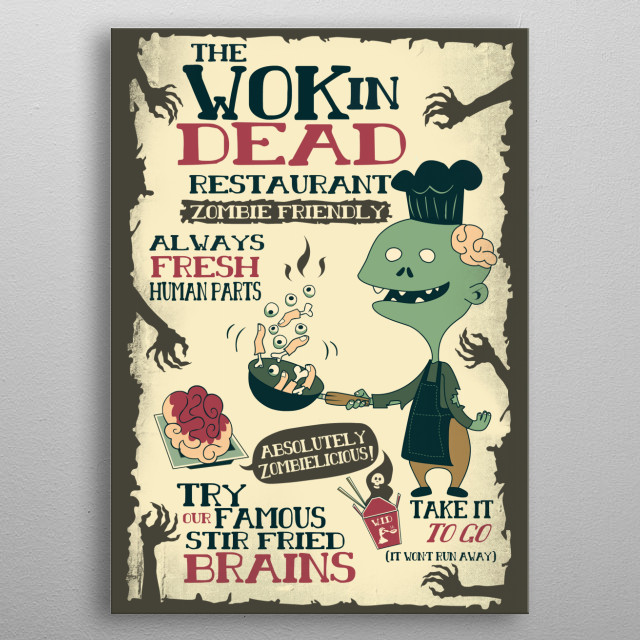The Wok In Dead metal poster