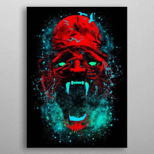 Panther metal poster