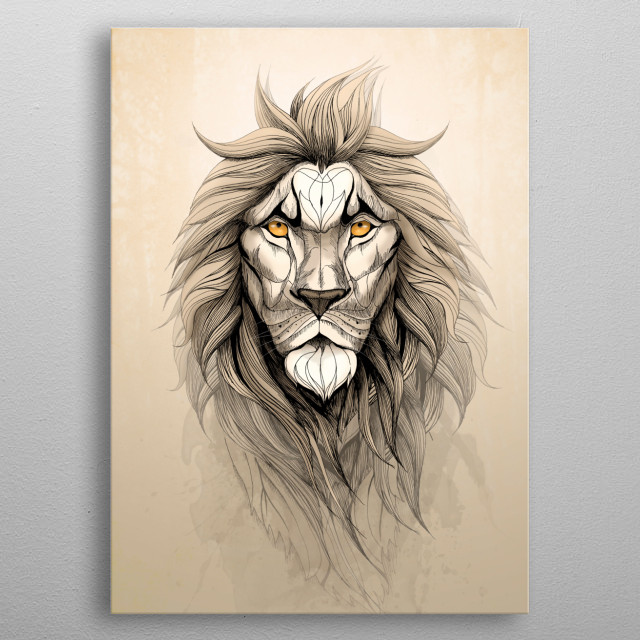 The Lion metal poster