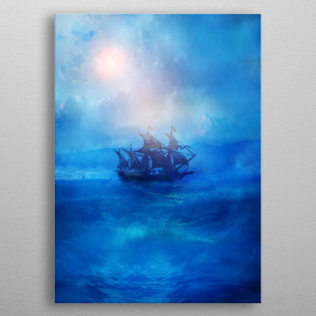Blue. Trip. metal poster
