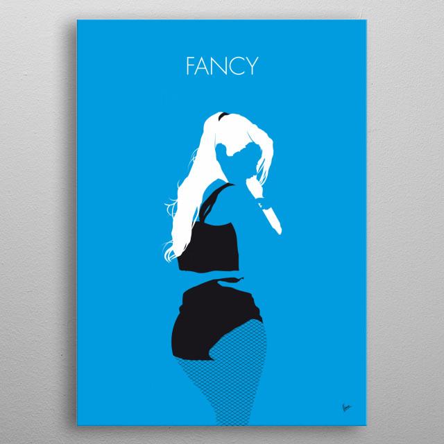 No049 MY IGGY AZALEA Minimal Music poster IGGY, AZALEA, Fancy, the New, Classic, Charli, XCX, rap, hip, hop, metal poster