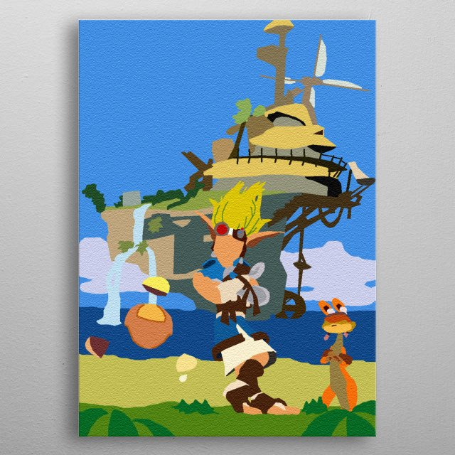 Jak and Daxter metal poster