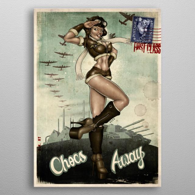 Chocs Away! metal poster