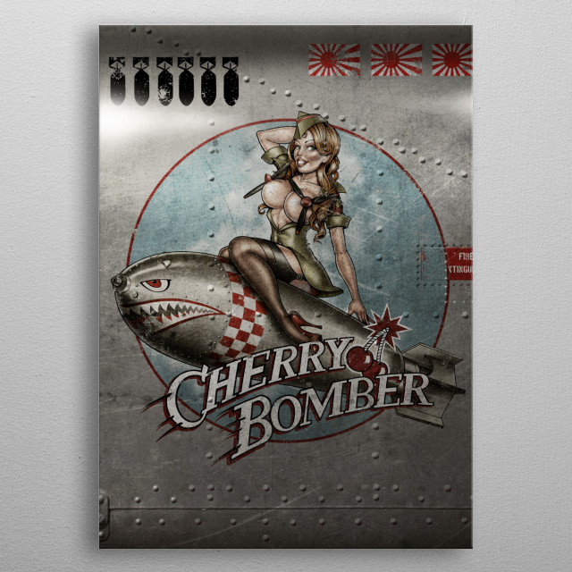'Cherry Bomber' metal poster