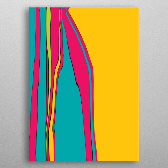 Abstract stripe metal poster