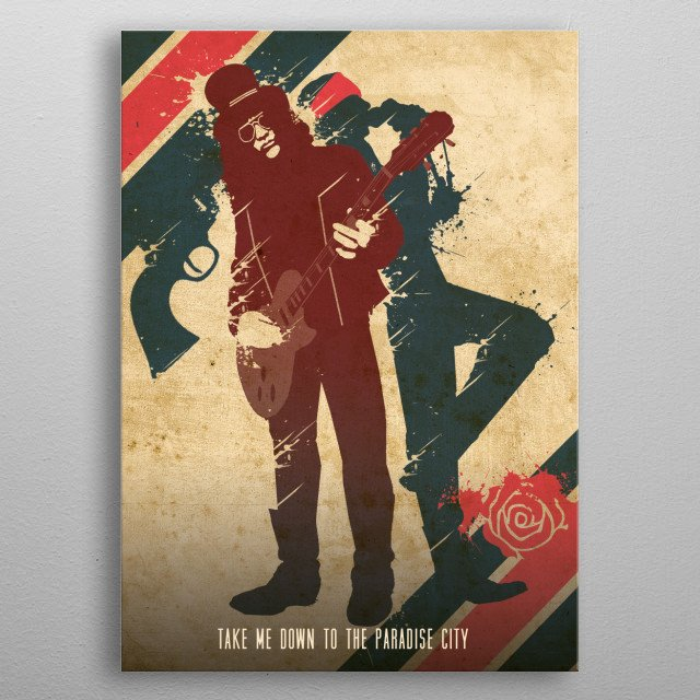 Take me down to the Paradise City metal poster