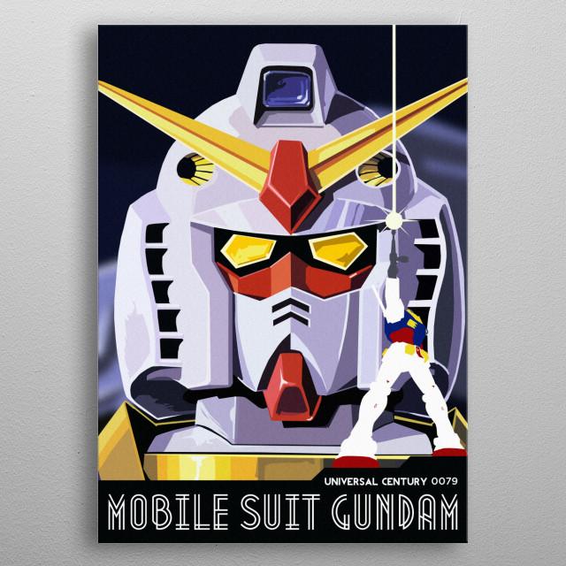 Deco Gundam metal poster