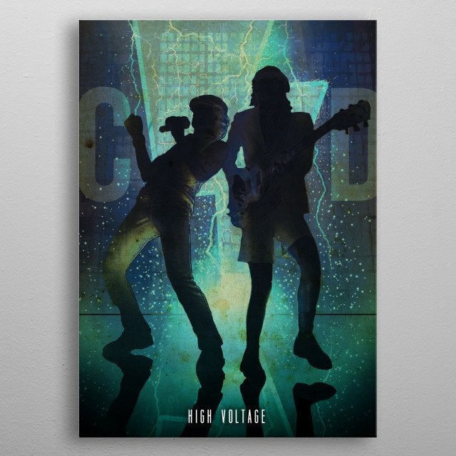 High Voltage metal poster