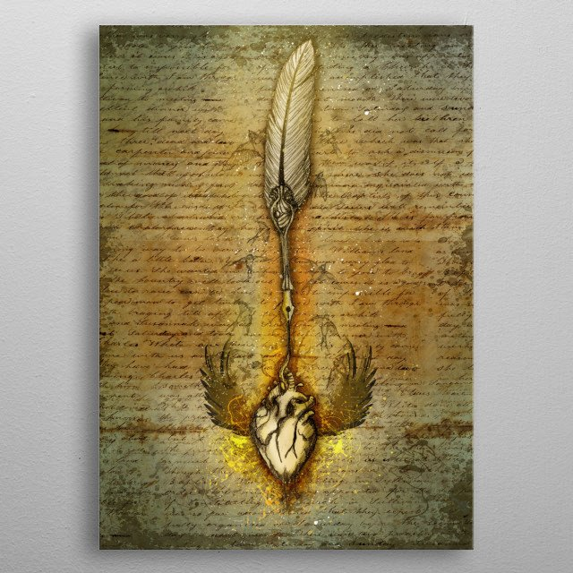 write your heart out metal poster