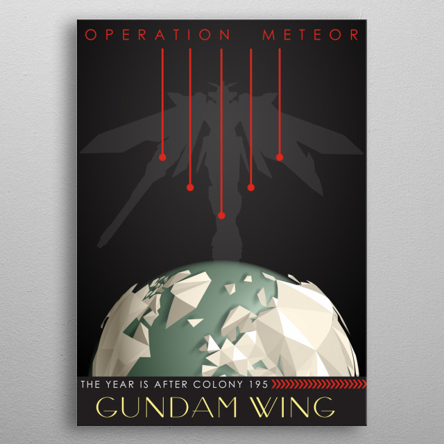 Operation Meteor metal poster