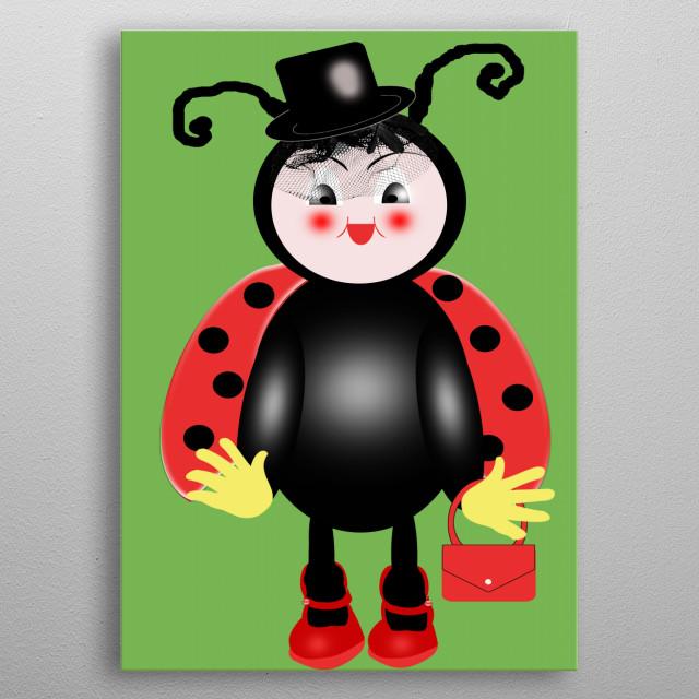 Ladybug metal poster