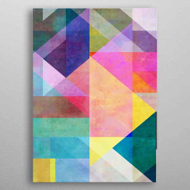Colorblocking 2 metal poster