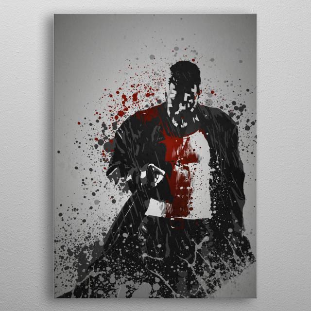 """Sin"" Splatter effect artwork inspired by Marv from Sin City. metal poster"