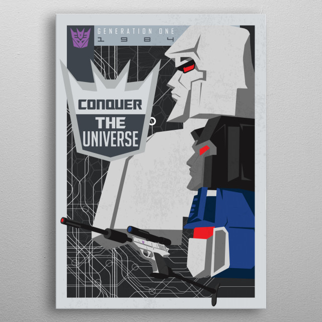 Conquer metal poster