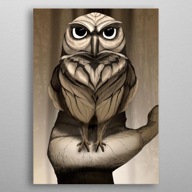 Little Owl metal poster