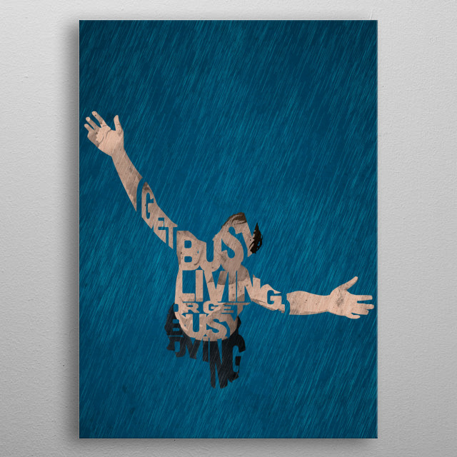 Andy Dufresne - The Shawshank Redemption. metal poster